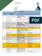 Cronograma Teorias e técnicas projetivas
