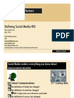 Defining Social Media ROI New Comm 2010 Read-Only