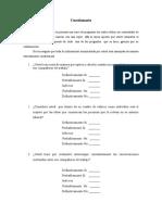 Cuestionario - Instrumento de Recolección de Datos