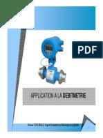 Cours Application Débitmétrie 2018