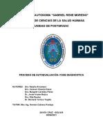 PROCESO DE AUTOEVALUACIÓN (Fase Diagnóstica)