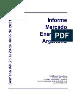 Informe Mercado Energético - 23 al 29 de Julio de 2021