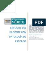 Enfoque del paciente con patología esofágica
