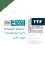 Sedación grado I y II para médicos generales