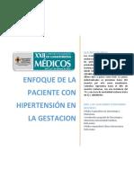 Enfoque de la paciente con hipertensión en el embarazo