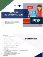 projet marketing decision du consomateur