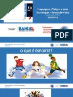SLIDES 2º ANO - EDUCAÇÃO FÍSICA - IV UNIDADE