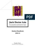 JD Student Handbook 2010-2011
