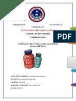 A.tene Ventajas y Desventajas de Las Formas Farmaceuticas
