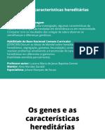 Os Genes e as Caracteristicas Hereditarias2491