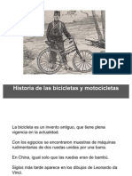 Historia de las  bicicletas y motocicletas