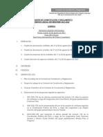 Agenda de la primera sesión ordinaria de la Comisión de Constitución y Reglamento
