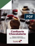 Tableau de Recettes Chocolaterie Sources Verger Boiron