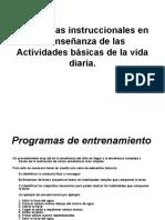 Estrategias  en la enseñanza de las ABVD
