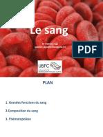 Cours Le Sang Version Étudiant 2017
