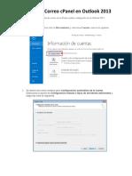 Tutorial de Configuracion Correo CPanel en Outlook 2013