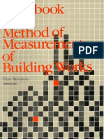HAnd Book of Method of Measurement Building Works