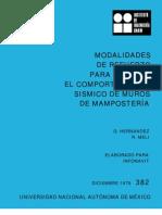 382 REFUERZO DE MUROS DE MAMPOSTERIA