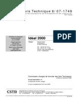 Certificat Aluplast Ideal2000