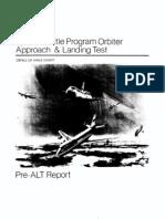 Space Shuttle Orbiter Approach and Landing Test (ALT) Program Pre-ALT Report