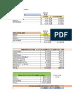 Presupuesto de Operación - Johanne Jimenez