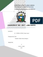 CASACIÓN N° 189 – 2017 – LIMA NORTE