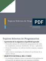 Topicos Selectos de Programacion Ago-dic-09