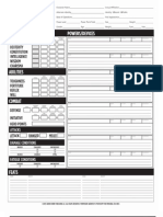 Mutants & Masterminds - Character Sheet - 2nd ed