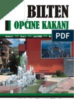 Bilten Opcine Kakanj - broj 1