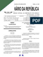 Lei N. 17-10 de 29 de Julho - Lei Da Organização