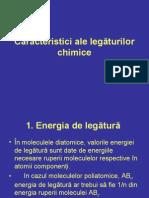 Caracteristici ale legăturilor chimice