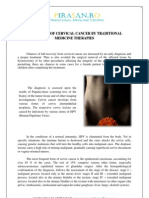 Treatment of Cervical Cancer by Traditional Medicine Therapies