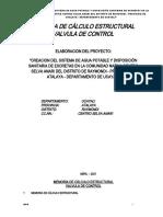 8.- MEMORIA DE CALCULO VALVULA DE CONTROL