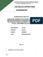 2.- MEMORIA DE CALCULO ESTRUCTURAL DESARENADOR