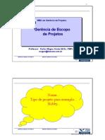Gerência de Escopo de Projetos