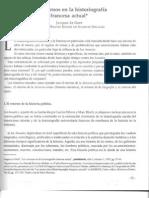 Jacques Le Goff - Los Retornos en La Historiografia Francesa Actual