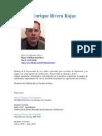 C.V  Jorge Rivera / Hoja de Vida Actualizada a 2021 / LIOFILIZACIÓN