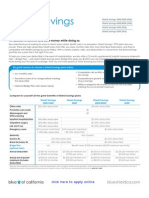Blue Shield of California Shield Savings Plans A36813 2011