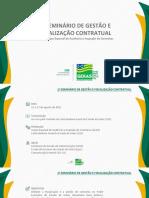 Projeto 1º seminário de Gestão e Fiscalização Contratual