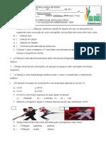 4ªAvaliação de educação física 08 de JULHO 4º ano.
