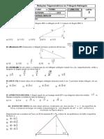 3ANO Relações Trigonométricas No Triângulo Retângulo LISTA3