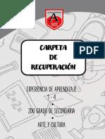 CARPETA DE RECUPERACION DE ARTE - 2° AÑO
