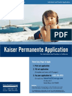 Kaiser Permanente California Individual and Family Application KPIF 60056508 2011
