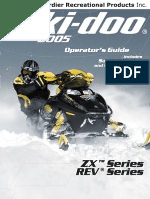 2005 Skidoo Operator's Manual   Vehicles   Transportation Engineering