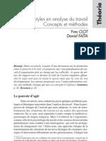 Genres et styles en analyse du travail