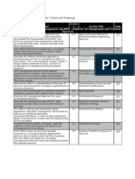 Compliance Matrix for Technical Proposal