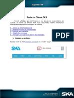 SKA - Funcionalidades do Portal do Cliente