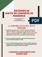 Alteraciones de sueño en contexto de pandemia
