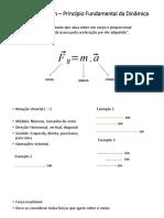 2ª Lei de Newton – Princípio Fundamental da