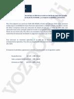 Documento enviado por Plus Ultra a la SEPI